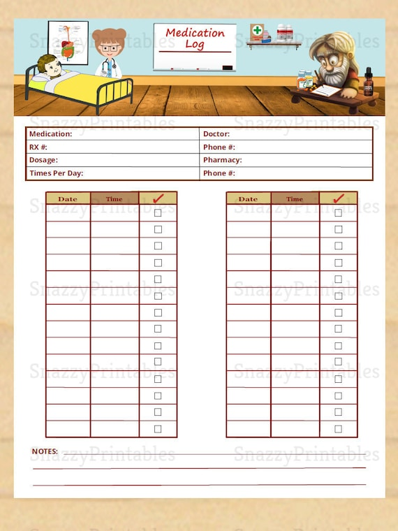 It's just an image of Medication Charts Printable within supplement