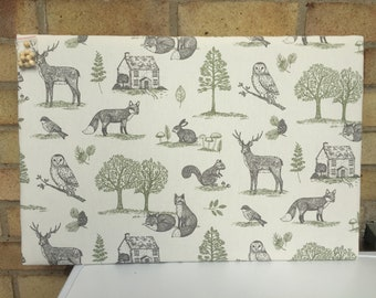 Large Woodland Animals Pin/Notice/Memory/Photo Board