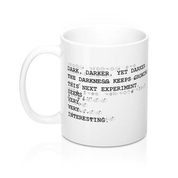 Darker yet darker undertale inspired Mug, w d  gaster, science quote, sans,  papyrus, underswap, underfell, chara, science mug, video game