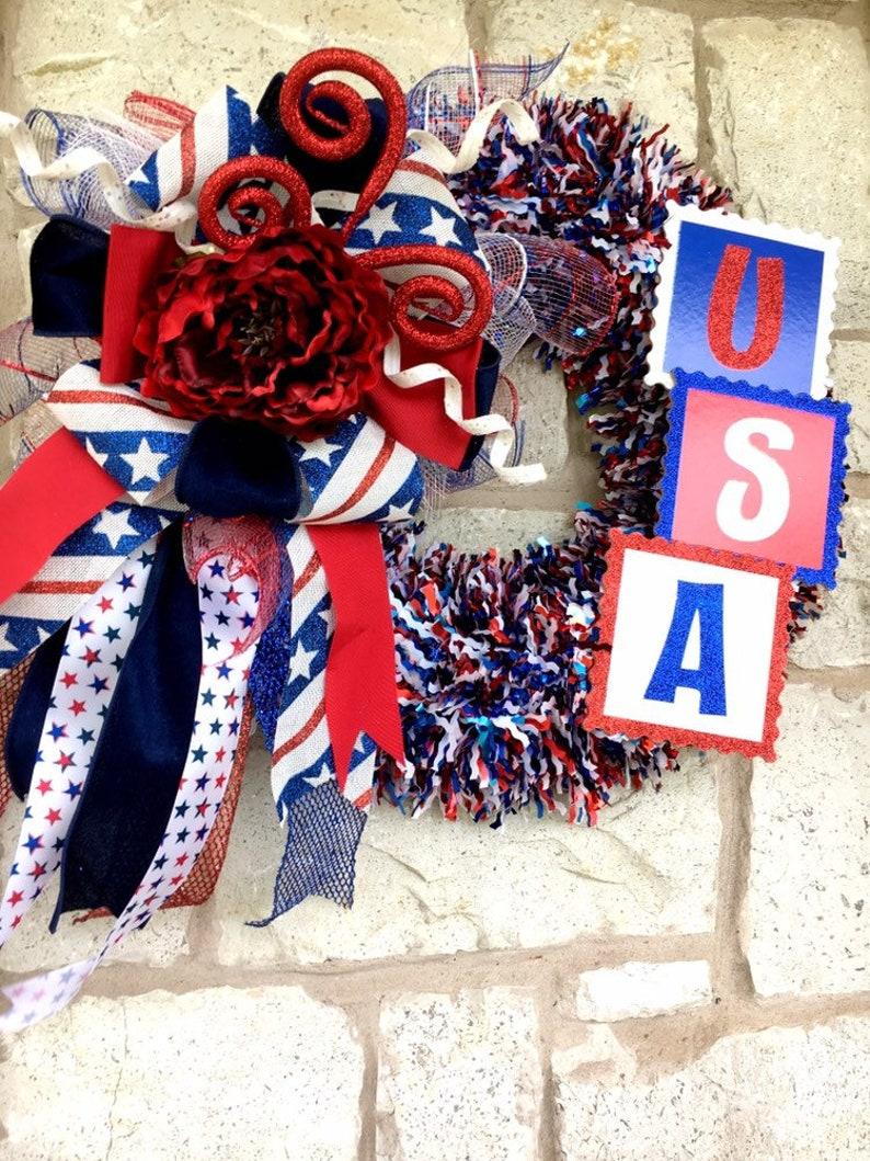 USA Fourth of July Firework Wreath
