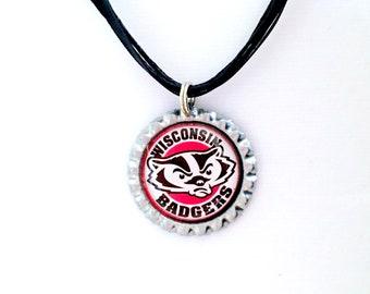 University Of Wisconsin BADGERS Handmade Necklace