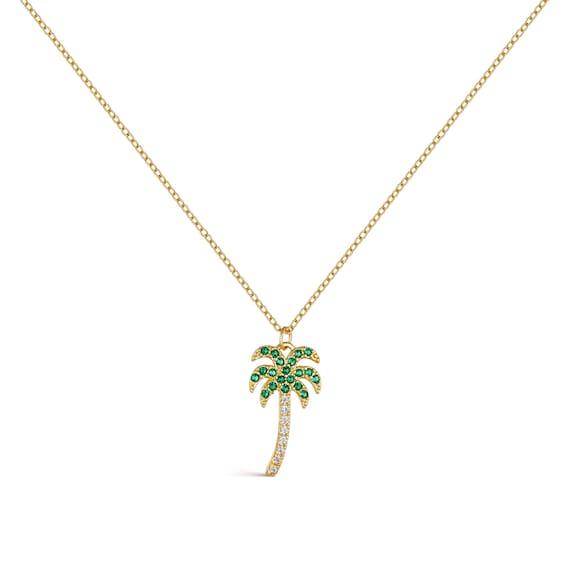 Matte Gold Plated  2 Pcs Jewelry Craft Supplies Palm Tree Brass Pendant FC511-MG