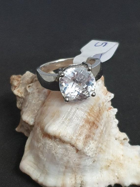 Vintage dames ring met steen 925 zilver