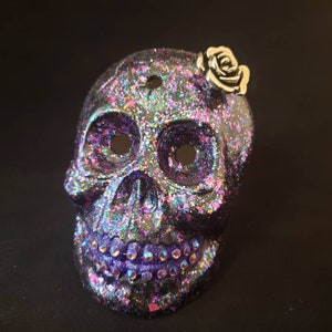 Light pink skull with silver snake