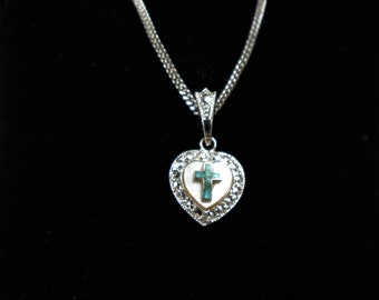 7e288b2a1 Beautiful Sterling Silver Ann Gale Heart Pendant and 15