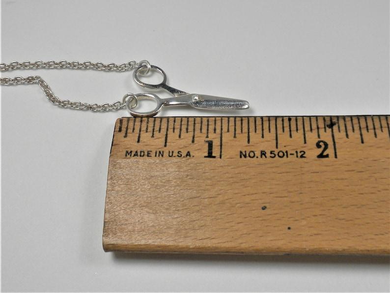 Italian 925 Dyadema Sterling Silver Scissors Necklace