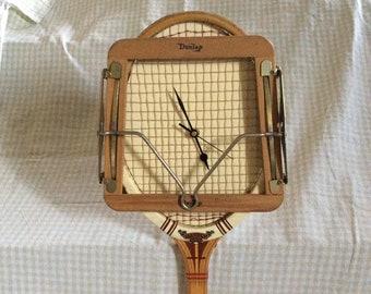 Vintage Dunlop Maxply Tennis Racquet Clock