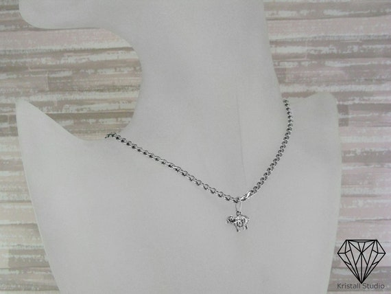 Solid Sterling Silver Necklace for Man or Woman  Unisex 925 Sterling Silver Chain  Handcrafted Children or Teenagers Chain  Small Chain