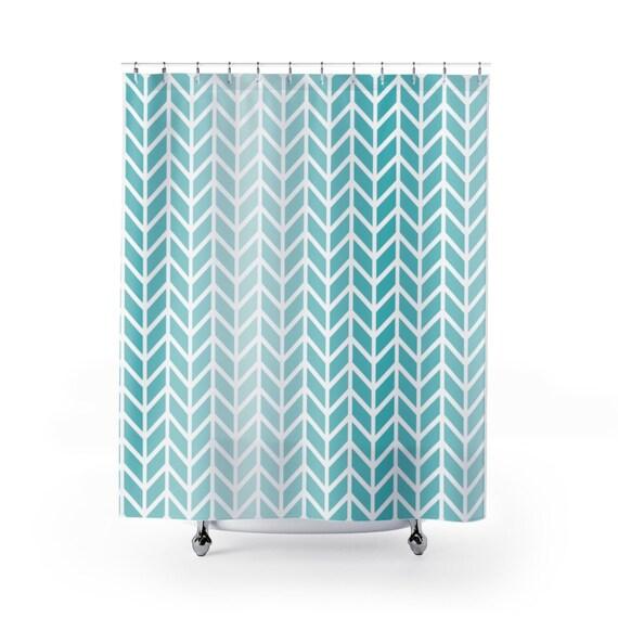 Ocean Blue Ombre Shower Curtain