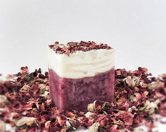 NORDPA  Lavender & Patchouli soap bar -  Artisan soap - Handmade Soap - Handcrafted Soap - Natural Soap - Rose