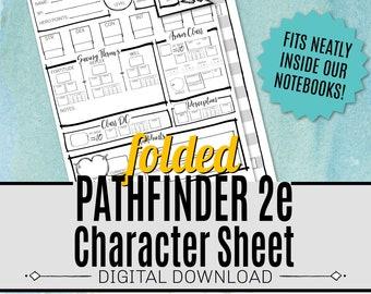 PATHFINDER CHARACTER SHEET / Pathfinder 2e / Rpg / Digital Download