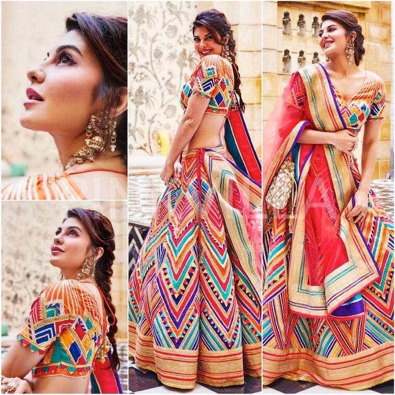 Indian New Designer Lehenga Choli Party Wedding Women Digital Printed Lengha