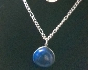 Lapis Lazuli and sterling silver Necklace with gift box