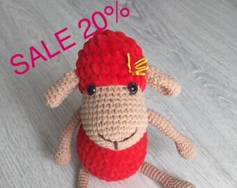 Sheep handmade sheep knitted sheep handmade toy toys for children ram mutton crochet sheep crochet toys