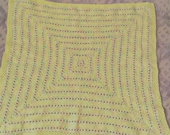 Baby afghan, crocheted