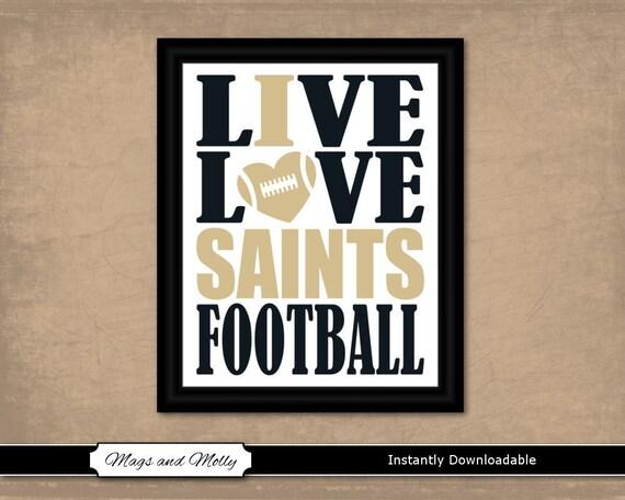 New Orleans Saints Schedule 2020 Printable.New Orleans Saints Wall Art Football Printable Sports Fan Gift Idea Live Love I Heart Saints Football 8x10 Instant Download Team Colors
