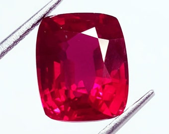 Wonderful Looking Ring Size 6.18 Ct Cushion Shape Certified Natural Ruby Gemstone