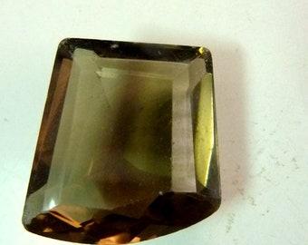 AAA+++ Smokey Quartz Faceted Smokey Quartz Faceted Stone size 22 mm x  23.5 mm x 10.8 mm
