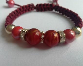 Macrame burgundy bracelet