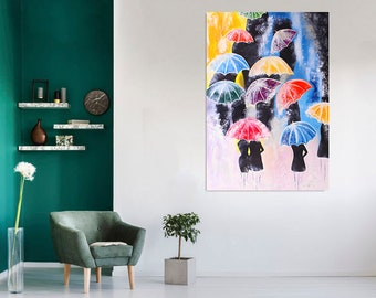 Wall Decor Poster.Fine Graphic Art Design.Palms in a Mountain.Room Bar art.256