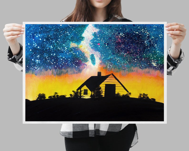 Northern lights Best selling items Realtor gift Fine art print Gothic home  decor Space poster Space print