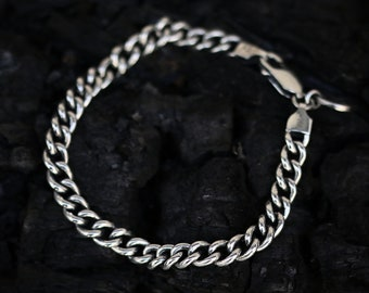 Sterling Silver Small Oval Chain Bracelet