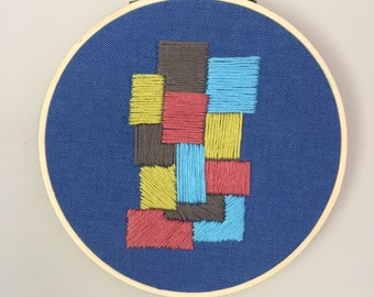 Abstract Embroidery Art