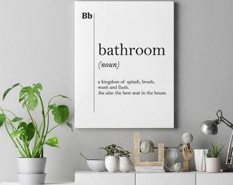 Excellent Bathroom Canvas Art Etsy Home Interior And Landscaping Ponolsignezvosmurscom