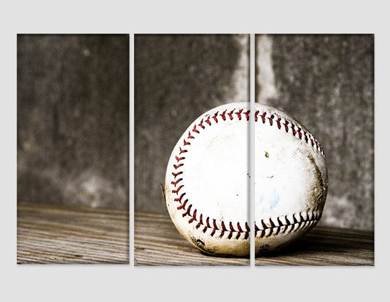 Baseball Wall Art Vintage Baseball Canvas Print Baseball Fan | Etsy