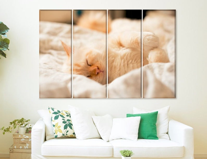 Cat Kitten Art Canvas Print Poster Bedroom Living Room Decor Home Wall Pictures