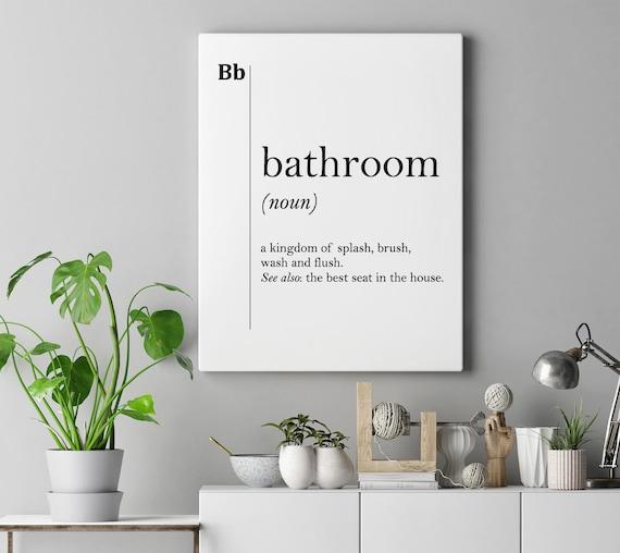Bathroom Canvas Art Definition Bathroom Print Bathroom Wall Etsy