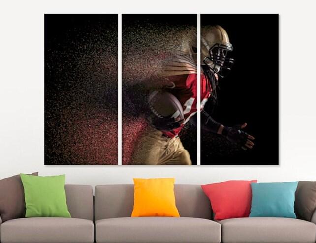 American Football Motivational Wall Art Football Canvas Art | Etsy