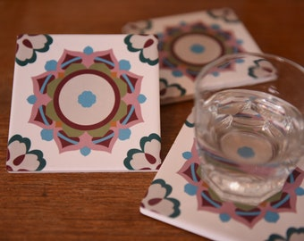 Beautiful Portuguese Coasters/ Colourful and Stylish/ Hand-crafted in Xiamen China