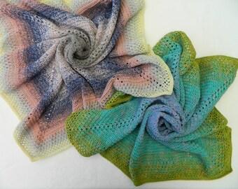 "Baby blanket ""CrissCross"" - 67 x 67 cm - crocheted - different variants"