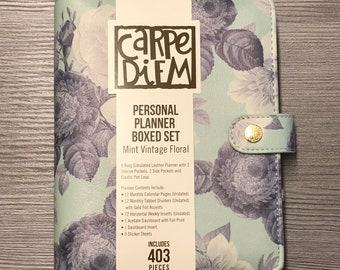 Carpe Diem - Personal Planner, incl. Inserts - Undated Calendar, Refillable - Boxed Set, 403 pieces - various designs