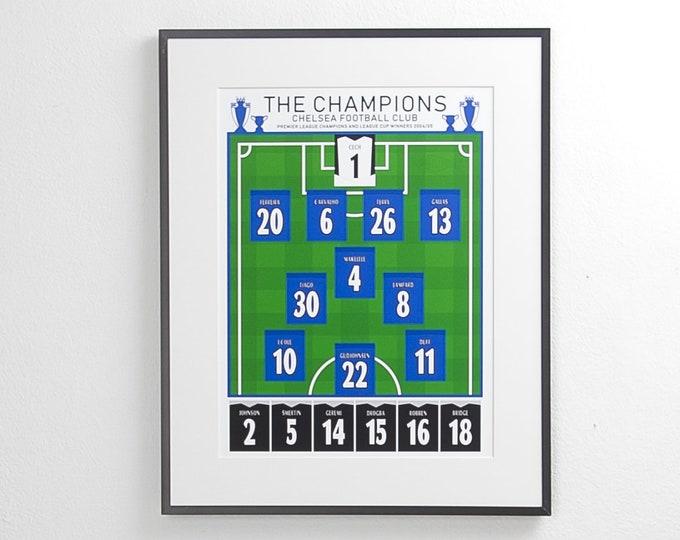 Chelsea - Champions 04/05 Classic XI A3 Print