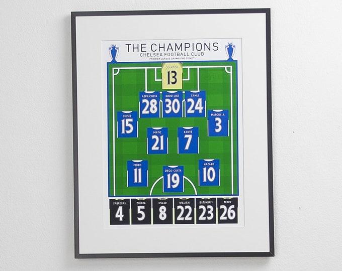Chelsea - Champions 16/17 Classic XI A3 Print