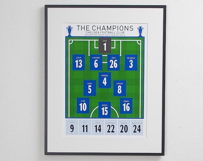 Chelsea - Champions 05/06 Classic XI A3 Print