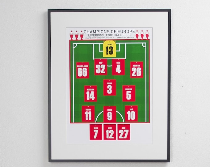 Liverpool - Champions of Europe 2019 A3 Print