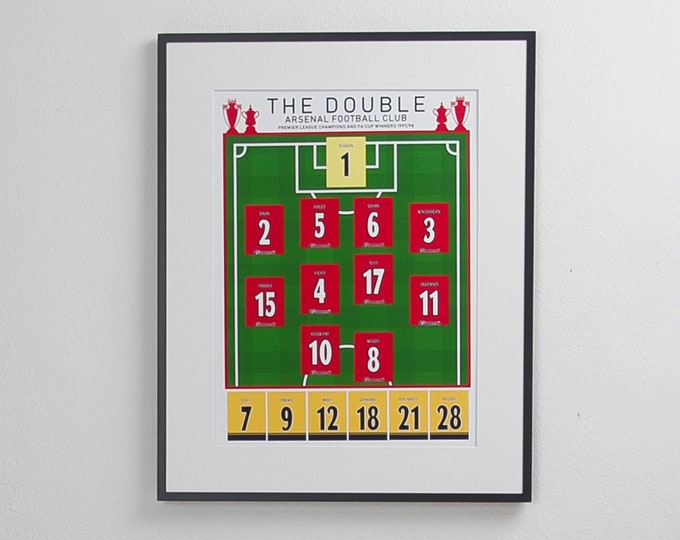 Arsenal - The Double 97/98 Classic XI A3 Print