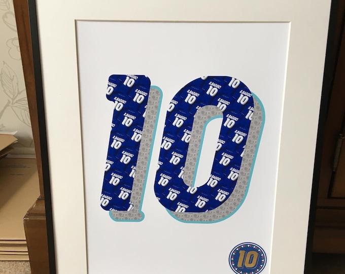 Roberto Baggio - Perfect 10 World Cup USA94 A3 Print