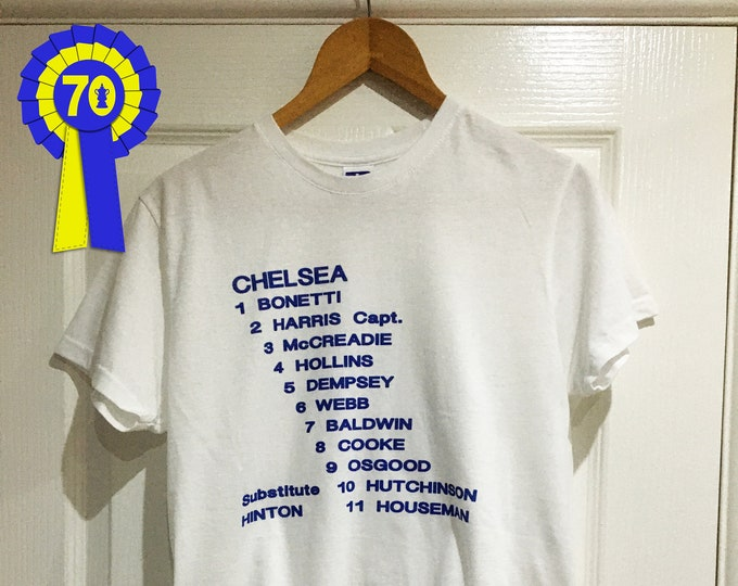 Chelsea - 1970 FA Cup Final Replay Line Up T-Shirt
