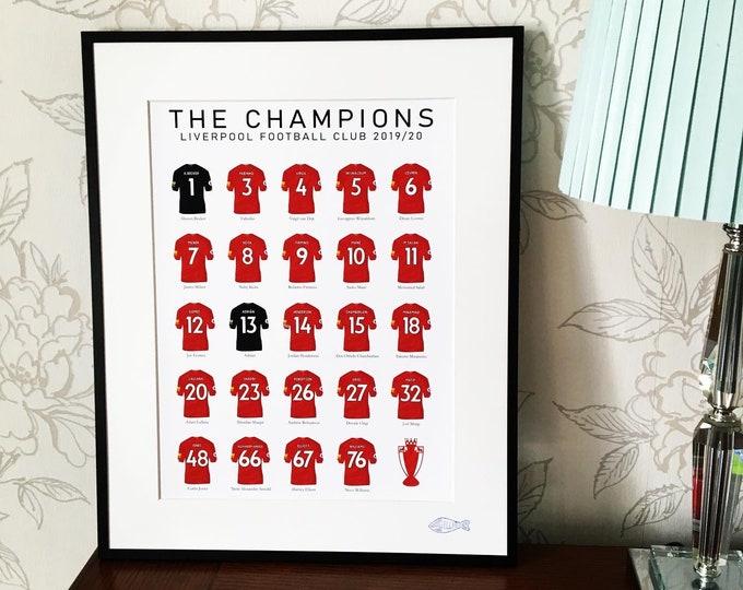 Liverpool - Champions 19/20 A3 Print