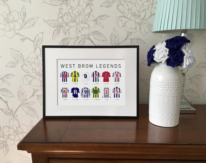 West Brom Legends A4 Print