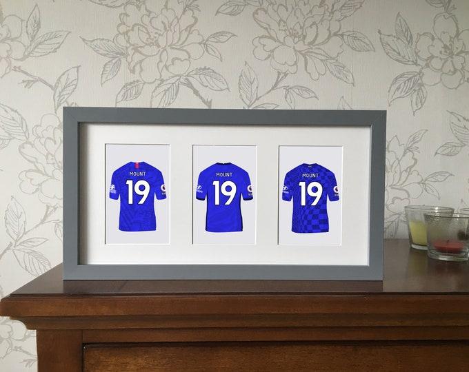 Chelsea - Mason Mount shirts framed