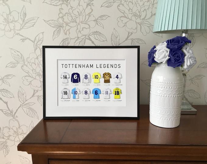 Tottenham Hotspur Legends A4 Print