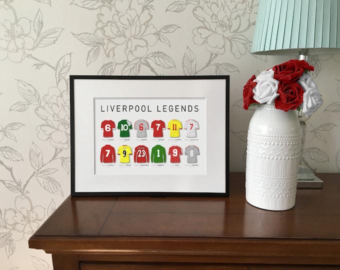 Liverpool Legends A4 Print