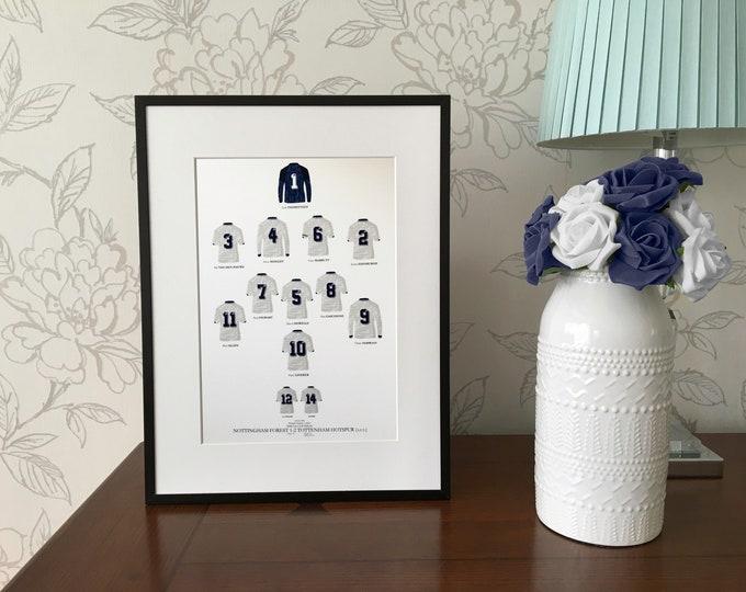Tottenham Hotspur - FA Cup Winners 1991 A4 Print