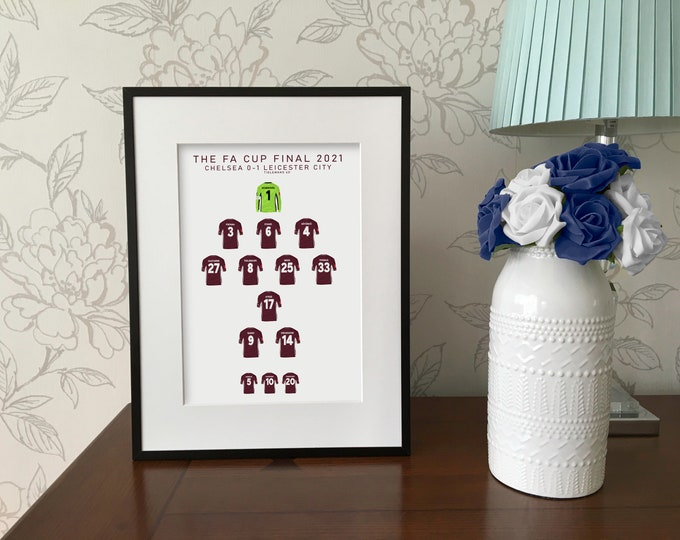 Leicester City - FA Cup Winners 2021 Print