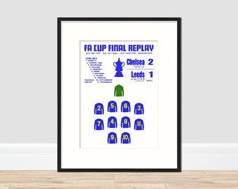Chelsea - FA Cup Winners 1970 Commemerative Print